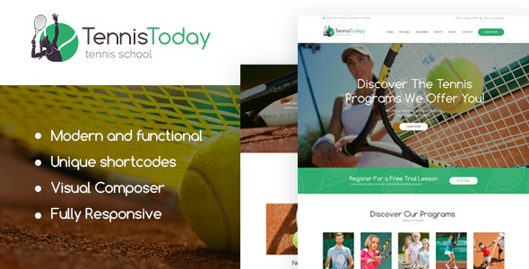 Image of Tennis Today | Sport School & Events Theme