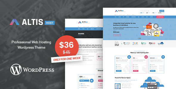 Altis – Professional Hosting WordPress Theme