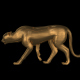 Gold Cheetah Walking - Looped - VideoHive Item for Sale
