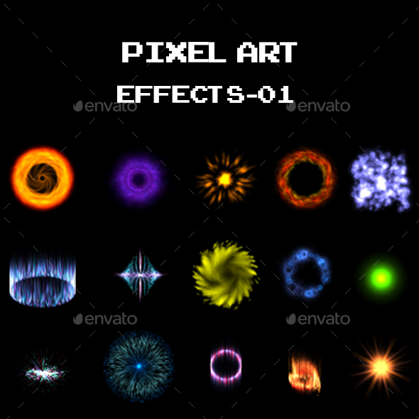 Pixel Art Effects 01 - Sprites Game Assets