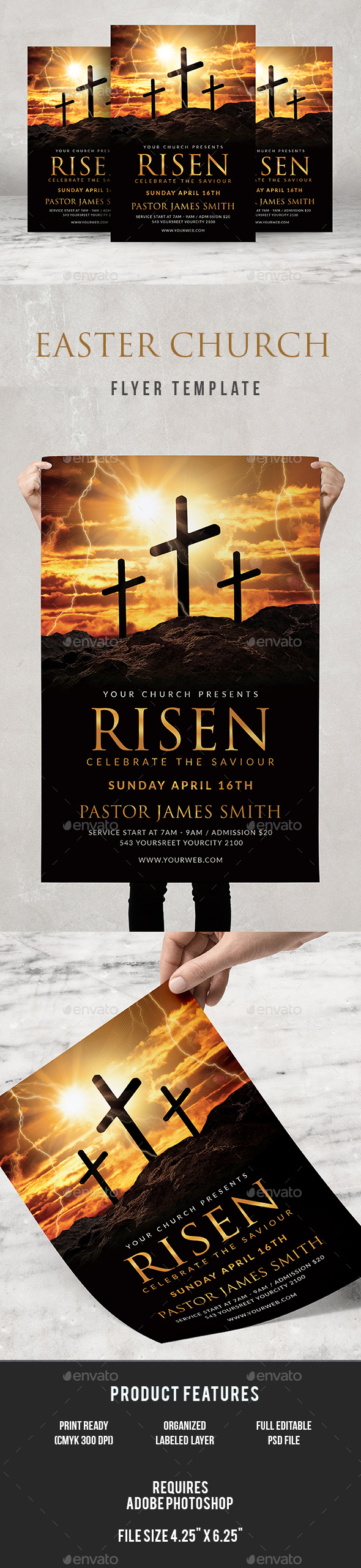 Risen Church Flyer - Church Flyers