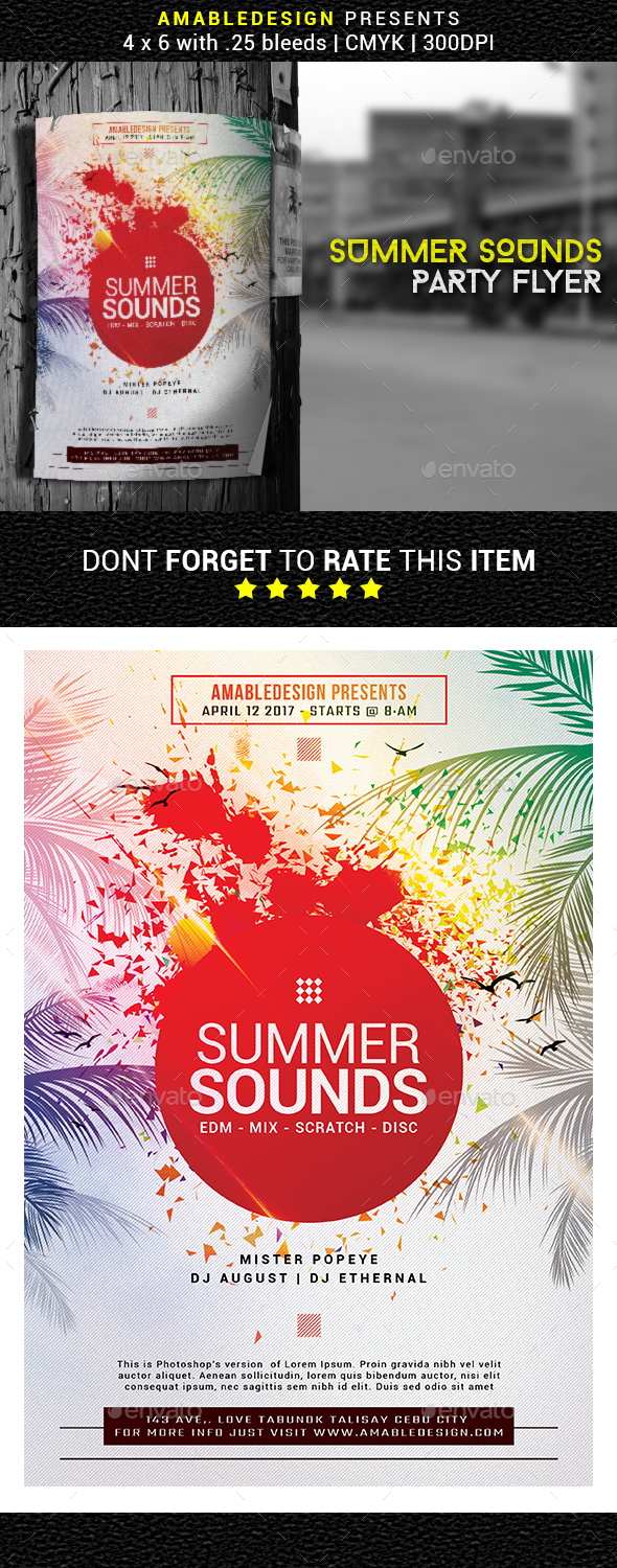 Summer Sounds Flyer - Events Flyers