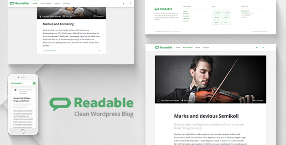 Readable – Blog WordPress Theme