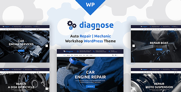 Diagnose - Auto Repair | Mechanic | Workshop WordPress Theme - Business Corporate
