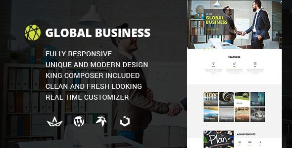 GB - Multipurpose Global Business, Corporate, Portfolio WordPress Theme