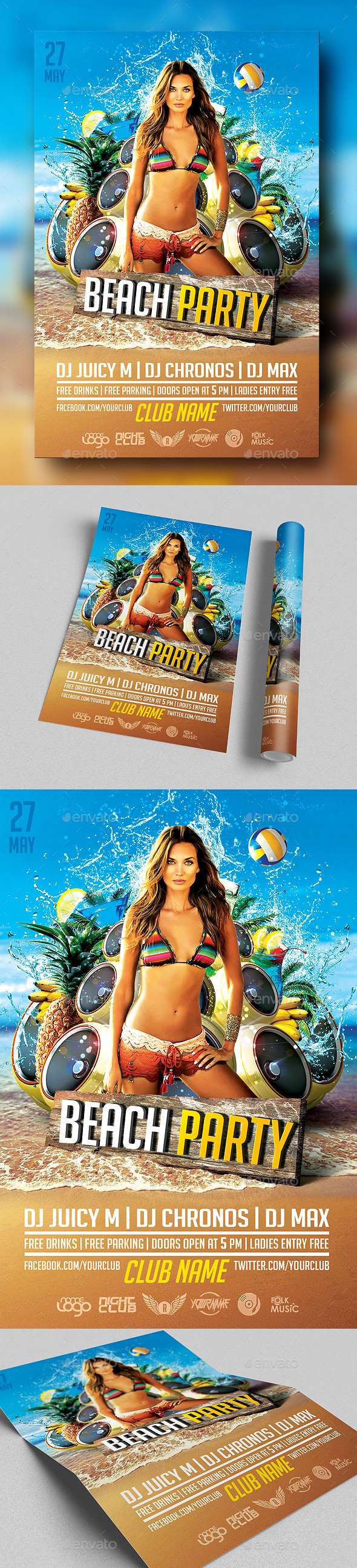 Beach Party Vol.2 - Clubs & Parties Events