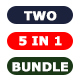 Bundle - TWO Photoshop Actions 5 in 1 - GraphicRiver Item for Sale