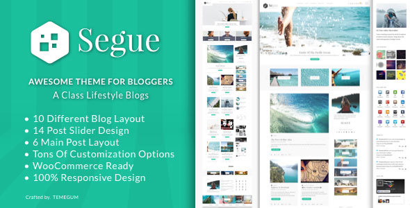 Segue – Multilayout Personal Blog WordPress Theme
