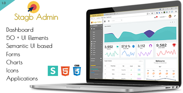 Stagb Semantic-Ui Admin Template - Admin Templates Site Templates