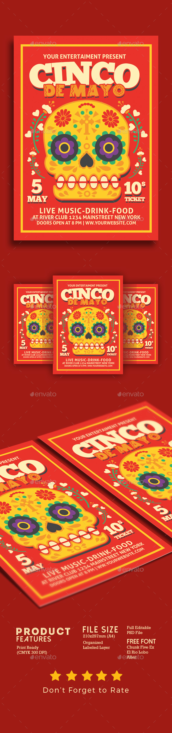 Cinco De Mayo Flyer Poster - Events Flyers