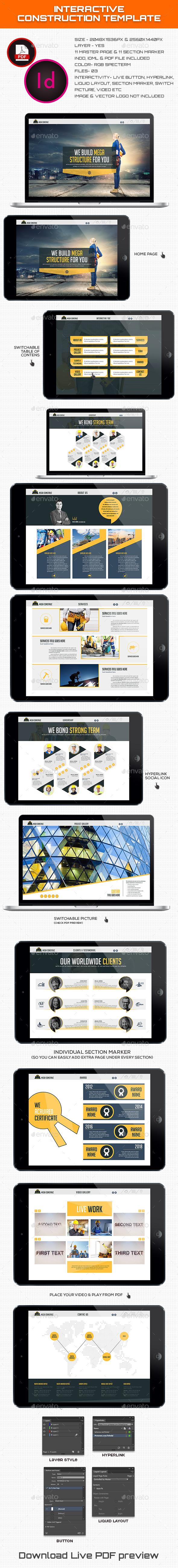 Interactive Construction Template - ePublishing