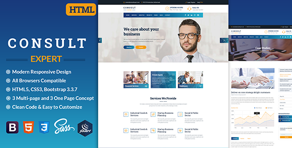 Consult Expert - Business Consulting , Finance & Professional Services HTML Template - Business Corporate