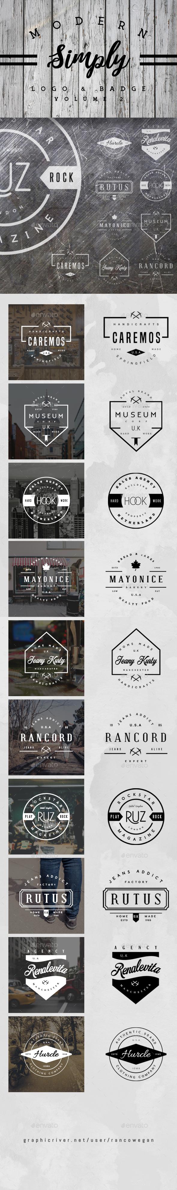 Vintage Logo & Badge Vol. 2 - Badges & Stickers Web Elements