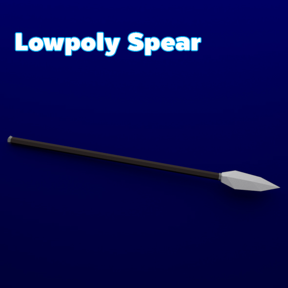 Lowpoly Spear - 3DOcean Item for Sale