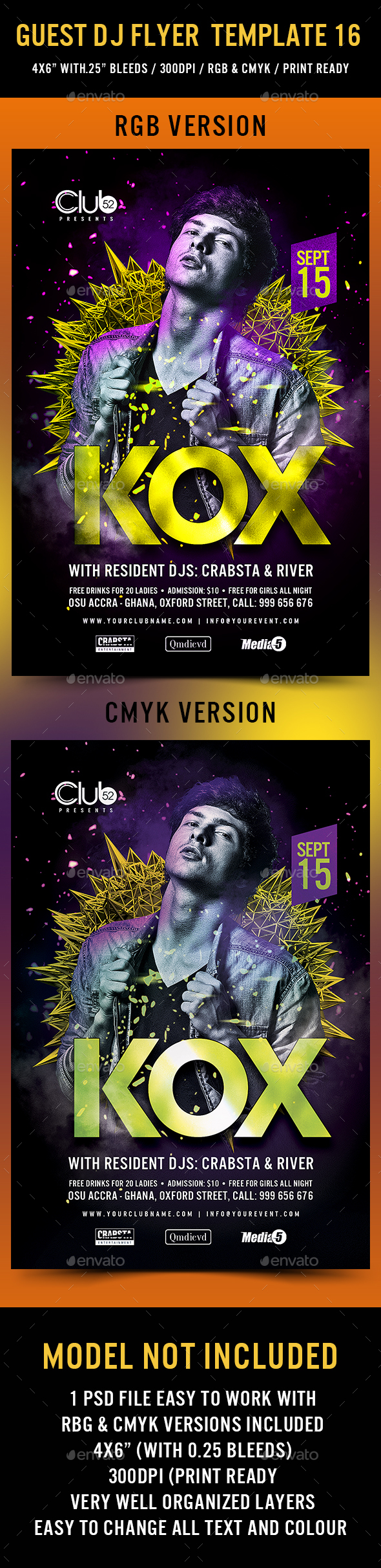Guest DJ Flyer Template 16 - Events Flyers