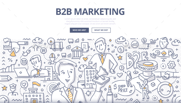 B2B Marketing Doodle Concept - Concepts Business