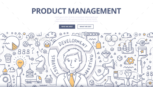 Product Management Doodle Concept - Concepts Business