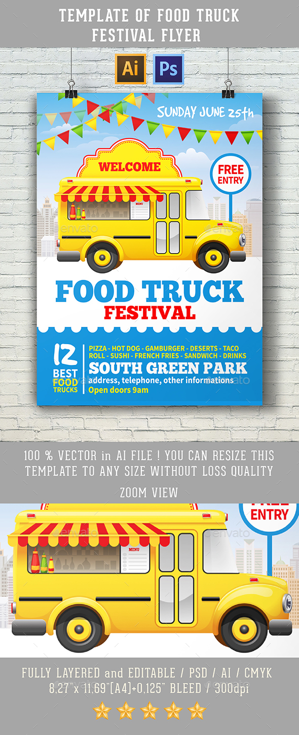 Food Truck Festival - Events Flyers