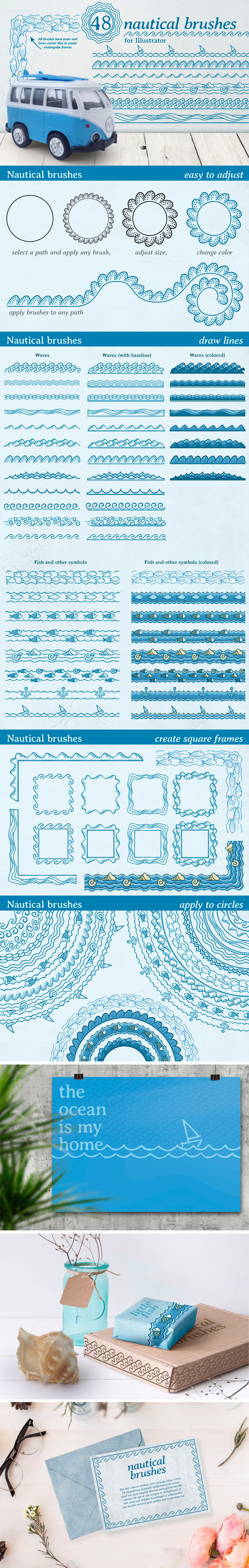 Nautical Brushes - Brushes Illustrator