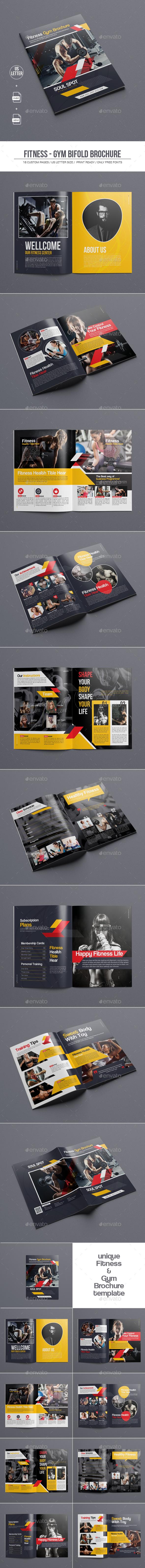 Fitness - Gym Bifold Brochure - Corporate Brochures