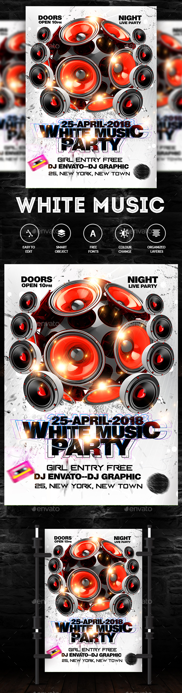 White Music Flyer - Clubs & Parties Events