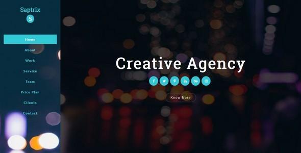 Saptrix-Multipuspose Creative Agency Html5 Responsive Template
