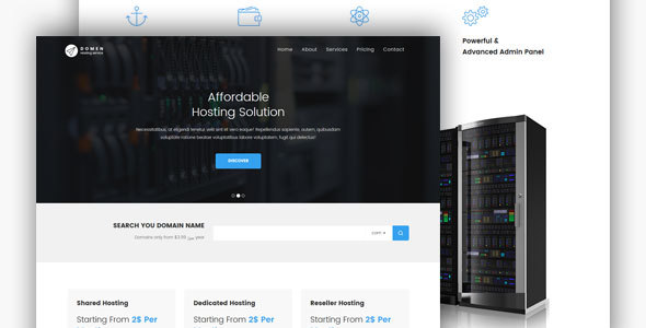 Domen HTML Hosting Template - Technology Site Templates
