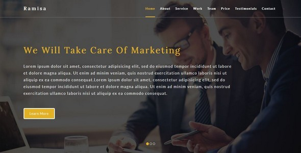 Ramisa-Business / Corporate HTML5 Template