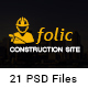 Folic Construction PSD Template - ThemeForest Item for Sale