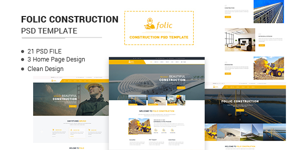 Folic Construction PSD Template - Business Corporate