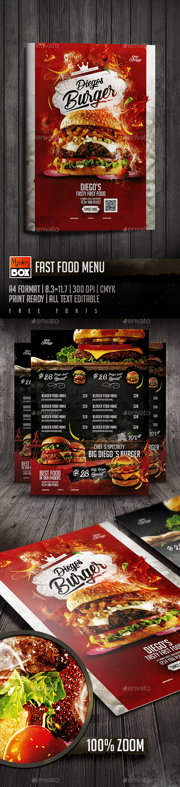 Fast Food Menu - Restaurant Flyers