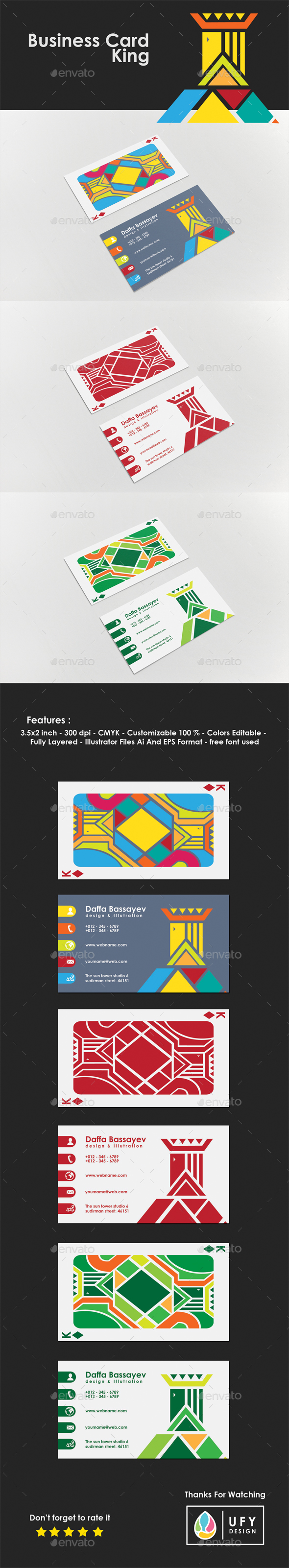 Business Card - King - Business Cards Print Templates