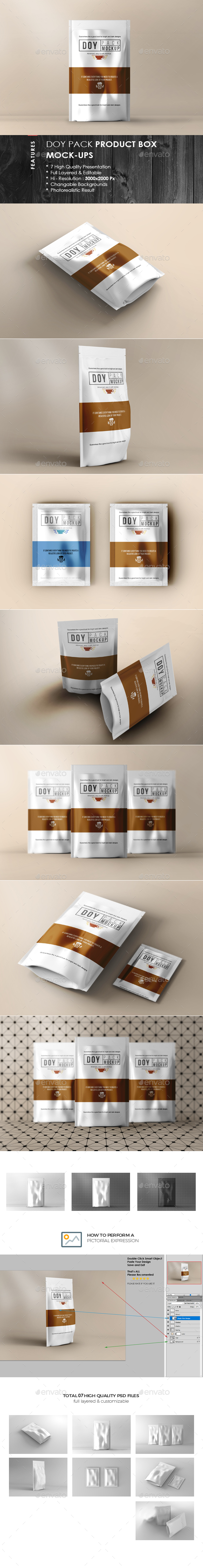 Doypack Package Mock-Up - Food and Drink Packaging