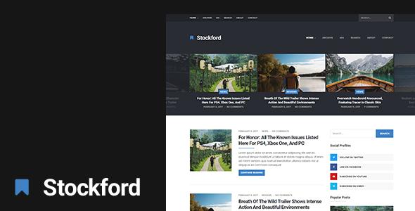 The Stockford - Responsive WordPress Blog Theme - Blog / Magazine WordPress
