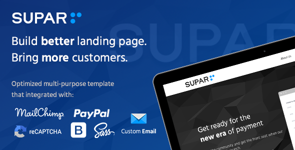 Supar | Multi-Purpose Landing Page HTML Template - Marketing Corporate
