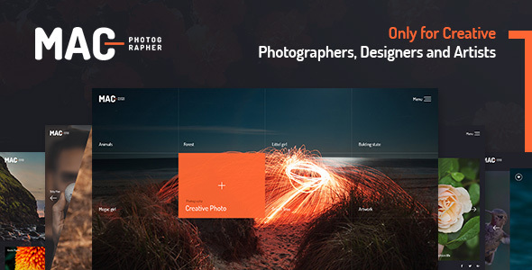 MAC - Photography Fullscreen WordPress Theme - Photography Creative