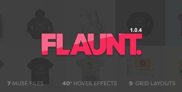 Flaunt - Muse Portfolio Template - Creative Muse Templates
