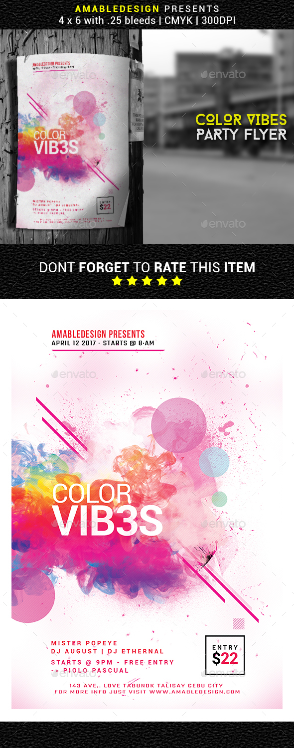 Color Vibes Flyer - Events Flyers
