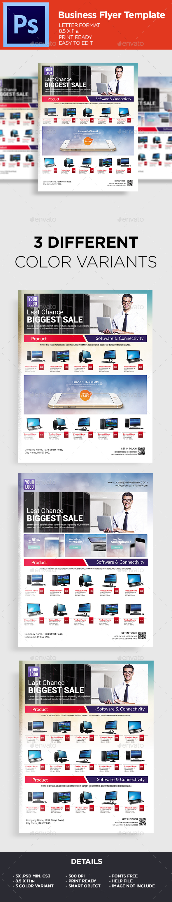 Sale Catalouge Product Flyer Template - Commerce Flyers
