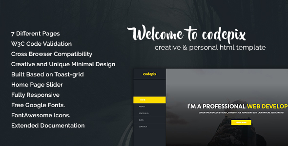 Codepix - Creation & Personal HTML Template