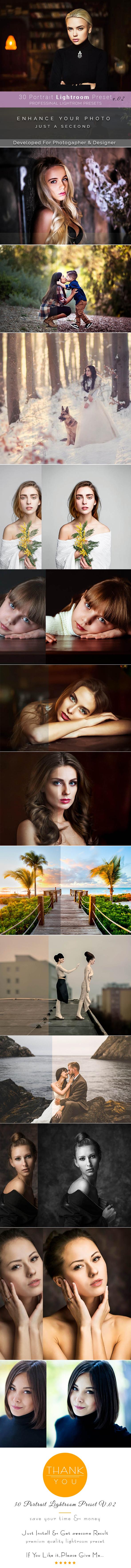 30 Portrait Lightroom Preset - Lightroom Presets Add-ons