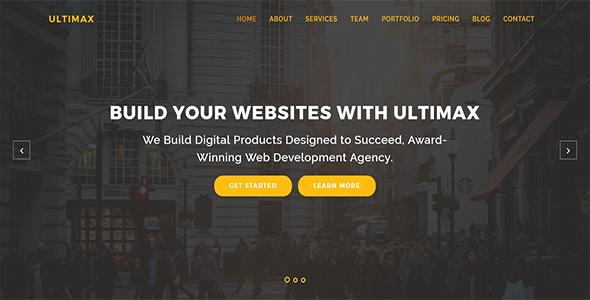 ultimax onepage html template
