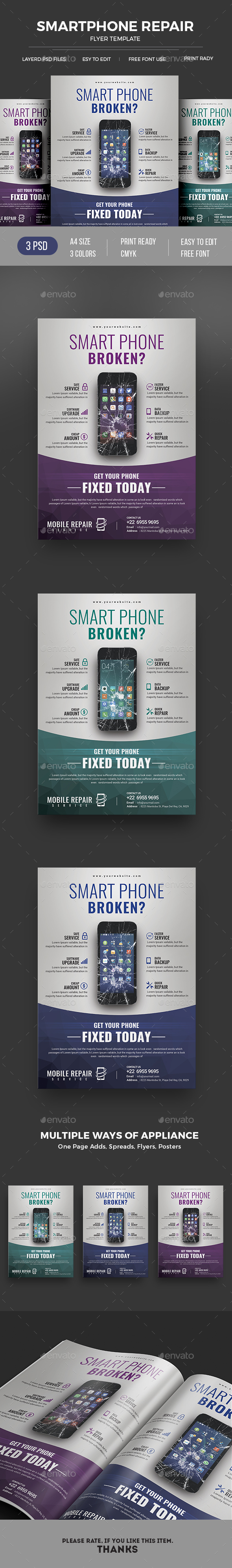 Smartphone Repair - Commerce Flyers