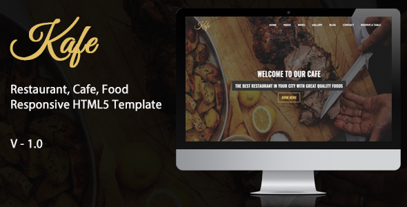 Kafe – Restaurant, Cafe, Food Responsive HTML5 Template