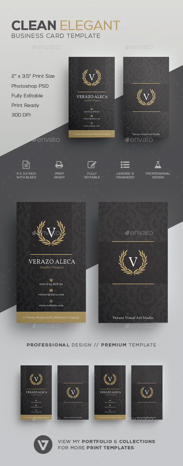 Elegant business card by verazo graphicriver elegant business card retrovintage business cards accmission Image collections