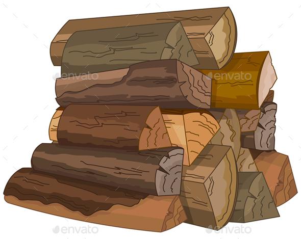 Logs of Fire Wood - Miscellaneous Vectors