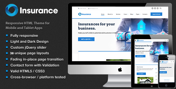 Insure – Insurance, Finance,Consulting  & Business Multipurpose Template
