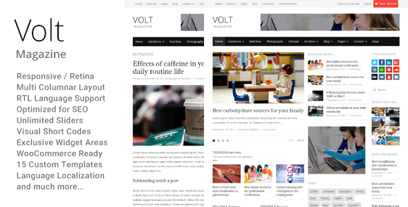 Volt - Newspaper Magazine theme WordPress - News / Editorial Blog / Magazine