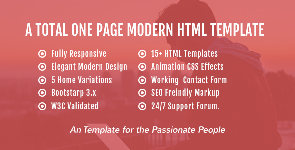 Onebusiness – One Page HTML Template