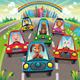 Traffic on the road. - GraphicRiver Item for Sale